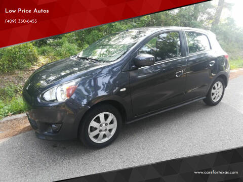 2014 Mitsubishi Mirage for sale at Low Price Autos in Beaumont TX