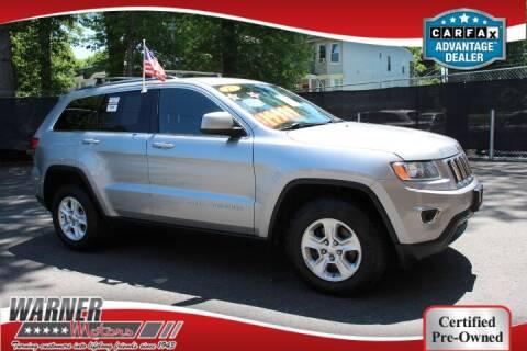 2015 Jeep Grand Cherokee for sale at Warner Motors in East Orange NJ