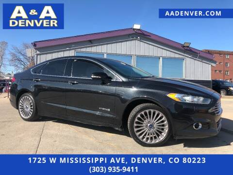 2013 Ford Fusion Hybrid for sale at A & A AUTO LLC in Denver CO