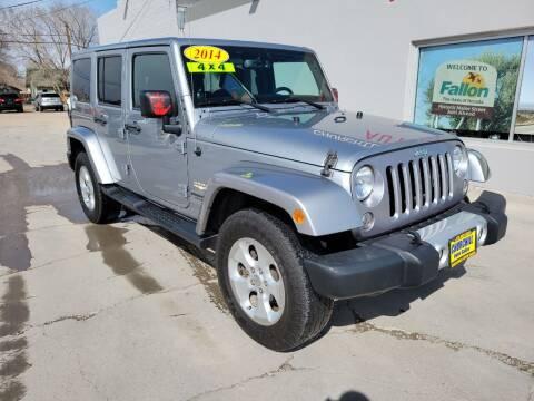2014 Jeep Wrangler Unlimited for sale at CHURCHILL AUTO SALES in Fallon NV