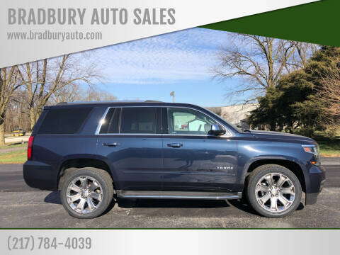 2017 Chevrolet Tahoe for sale at BRADBURY AUTO SALES in Gibson City IL