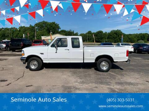 1995 Ford F-150 for sale at Seminole Auto Sales in Seminole OK
