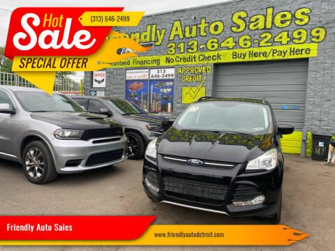 2016 Ford Escape for sale at Friendly Auto Sales in Detroit MI
