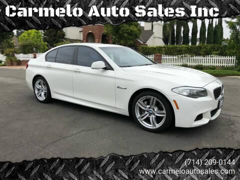 2011 BMW 5 Series for sale at Carmelo Auto Sales Inc in Orange CA