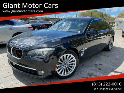 2011 BMW 7 Series for sale at Giant Motor Cars in Tampa FL