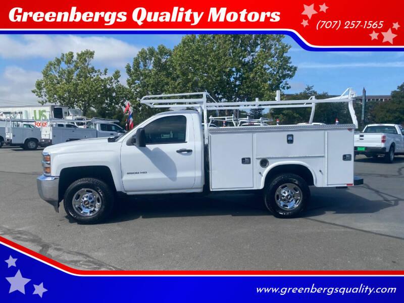 2015 Chevrolet Silverado 2500HD for sale at Greenbergs Quality Motors in Napa CA
