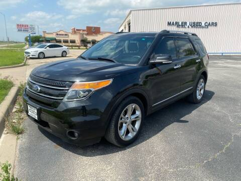 2015 Ford Explorer for sale at MARLER USED CARS in Gainesville TX