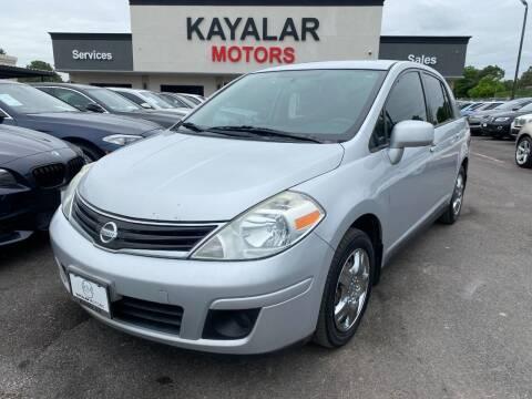 2010 Nissan Versa for sale at KAYALAR MOTORS in Houston TX