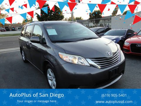 2016 Toyota Sienna for sale at AutoPlus of San Diego in Spring Valley CA