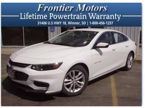 2018 Chevrolet Malibu for sale at Frontier Motors Automotive, Inc. in Winner SD