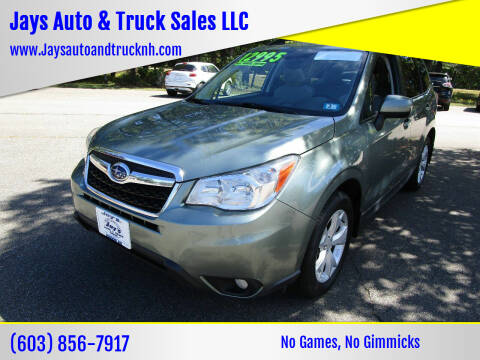 2015 Subaru Forester for sale at Jays Auto & Truck Sales LLC in Loudon NH