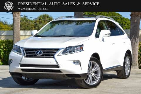 2015 Lexus RX 350 for sale at Presidential Auto  Sales & Service in Delray Beach FL
