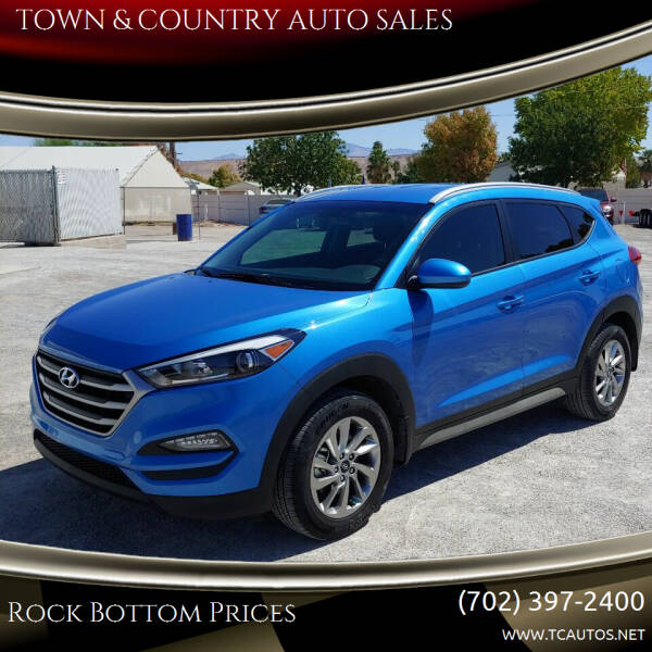 2017 Hyundai Tucson for sale at TOWN & COUNTRY AUTO SALES in Overton NV