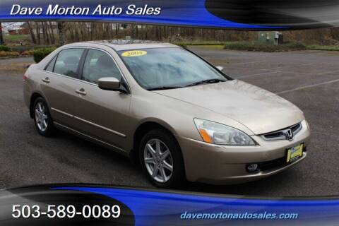 2004 Honda Accord for sale at Dave Morton Auto Sales in Salem OR