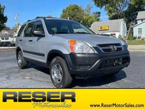 2003 Honda CR-V for sale at Reser Motorsales in Urbana OH