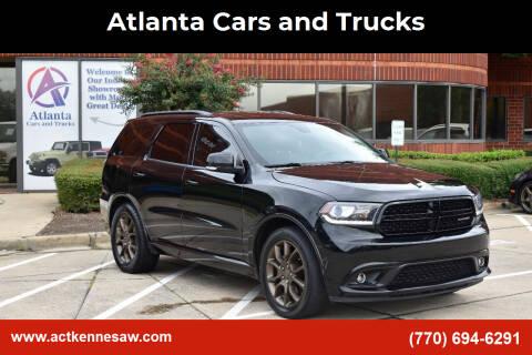2018 Dodge Durango for sale at Atlanta Cars and Trucks in Kennesaw GA