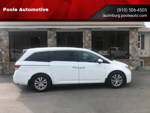 2017 Honda Odyssey for sale at Poole Automotive in Laurinburg NC