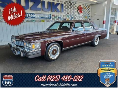 1977 Cadillac Fleetwood for sale at BROOKS BIDDLE AUTOMOTIVE in Bothell WA