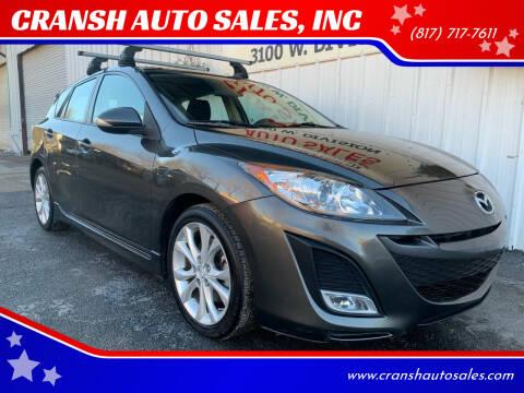 2010 Mazda MAZDA3 for sale at CRANSH AUTO SALES, INC in Arlington TX