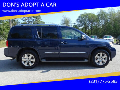 2011 Nissan Armada for sale at DON'S ADOPT A CAR in Cadillac MI