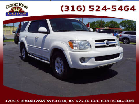 2006 Toyota Sequoia for sale at Credit King Auto Sales in Wichita KS