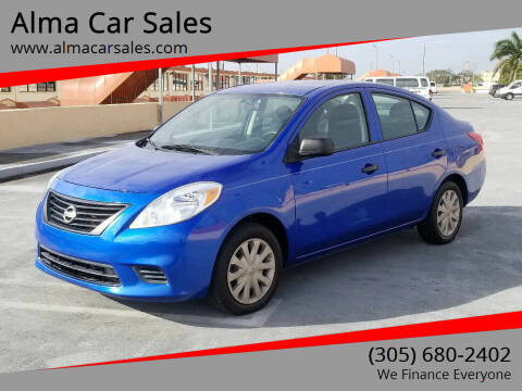 2012 Nissan Versa for sale at Alma Car Sales in Miami FL