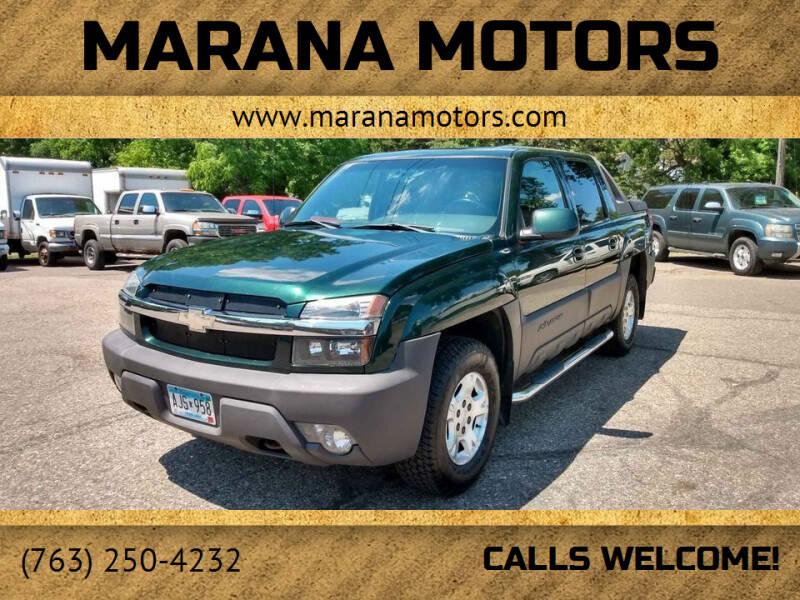 2003 Chevrolet Avalanche for sale at Marana Motors in Princeton MN