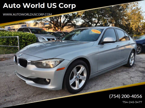 2015 BMW 3 Series for sale at Auto World US Corp in Plantation FL