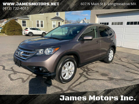 2014 Honda CR-V for sale at James Motors Inc. in East Longmeadow MA