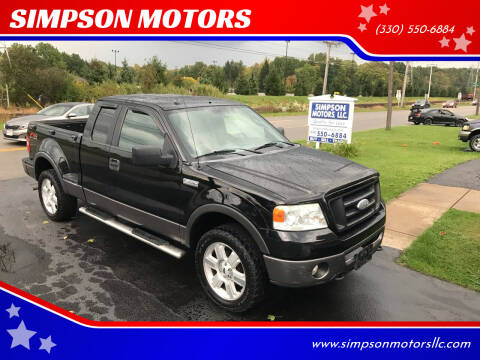 2006 Ford F-150 for sale at SIMPSON MOTORS in Youngstown OH