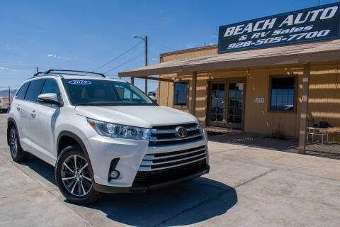 2018 Toyota Highlander for sale at Beach Auto and RV Sales in Lake Havasu City AZ