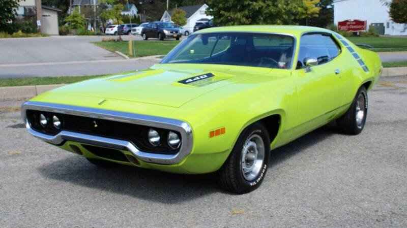 1971 Plymouth Roadrunner for sale at Great Lakes Classic Cars & Detail Shop in Hilton NY