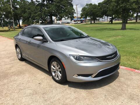 2015 Chrysler 200 for sale at RP AUTO SALES & LEASING in Arlington TX