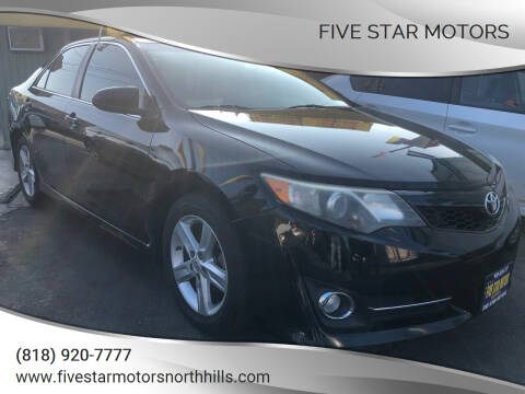 2014 Toyota Camry for sale at Five Star Motors in North Hills CA