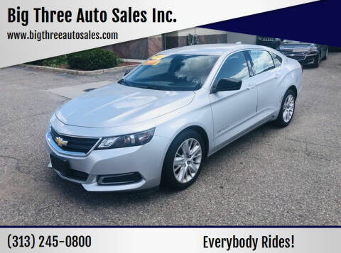 2016 Chevrolet Impala for sale at Big Three Auto Sales Inc. in Detroit MI