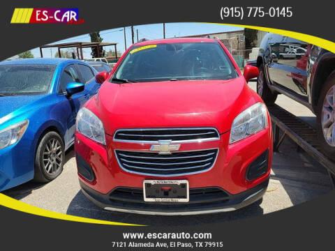 2016 Chevrolet Trax for sale at Escar Auto in El Paso TX