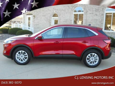 2020 Ford Escape for sale at C.J. Lensing Motors Inc in Decorah IA