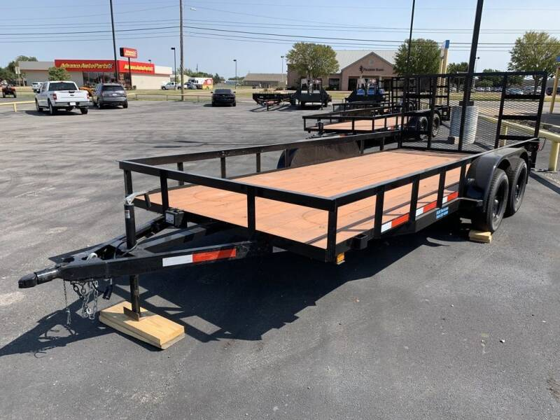 2020 P &C TRAILER & REPAIR 83 X 18 TA ANGLE for sale at Lipscomb Powersports in Wichita Falls TX