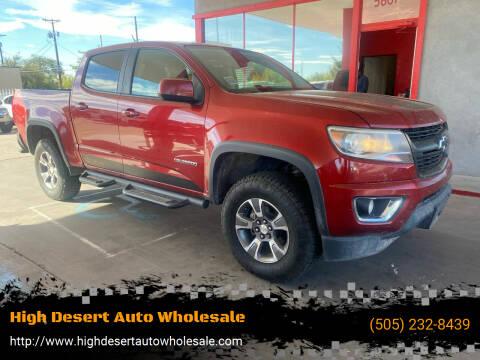 2015 Chevrolet Colorado for sale at High Desert Auto Wholesale in Albuquerque NM