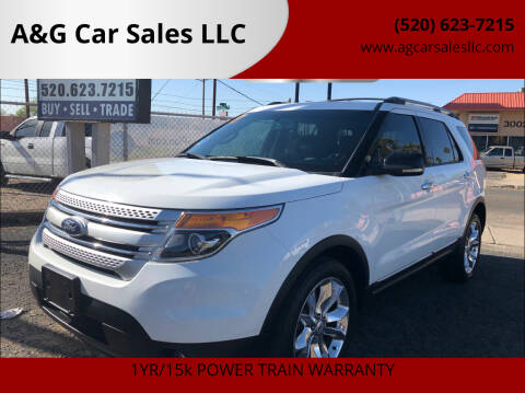 2013 Ford Explorer for sale at A&G Car Sales  LLC in Tucson AZ