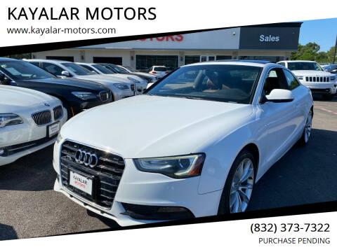 2014 Audi A5 for sale at KAYALAR MOTORS in Houston TX