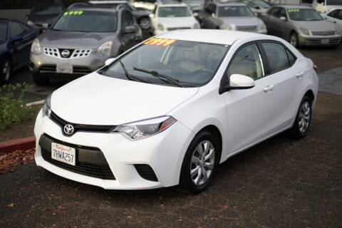 2015 Toyota Corolla for sale at Sports Plus Motor Group LLC in Sunnyvale CA