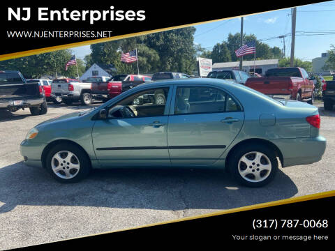 2006 Toyota Corolla for sale at NJ Enterprises in Indianapolis IN