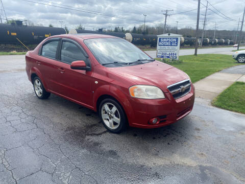 2007 Chevrolet Aveo for sale at SIMPSON MOTORS in Youngstown OH