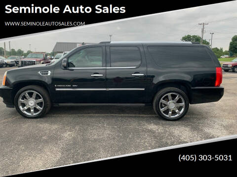 2008 Cadillac Escalade ESV for sale at Seminole Auto Sales in Seminole OK