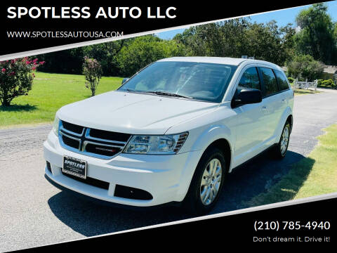 2015 Dodge Journey for sale at SPOTLESS AUTO LLC in San Antonio TX