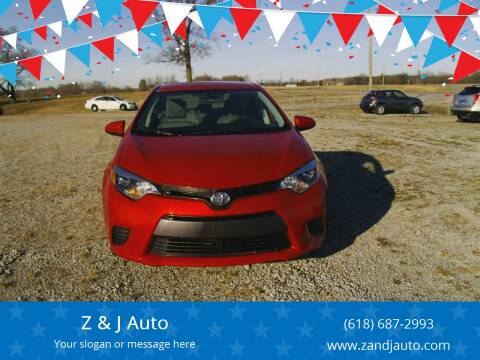2015 Toyota Corolla for sale at Z & J Auto in Murphysboro IL