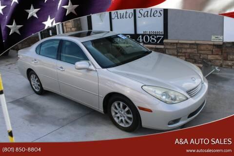 2002 Lexus ES 300 for sale at A&A Auto Sales in Orem UT