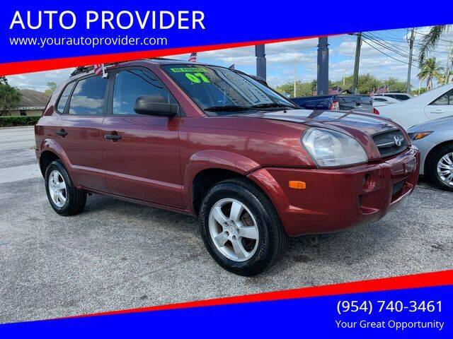2007 Hyundai Tucson for sale at AUTO PROVIDER in Fort Lauderdale FL