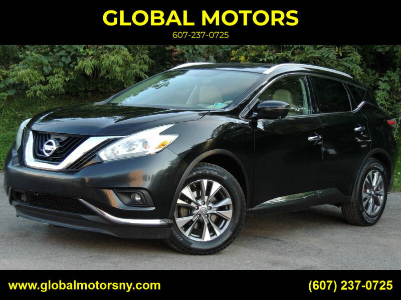 2016 Nissan Murano for sale at GLOBAL MOTORS in Binghamton NY